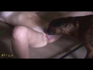 Helpless Housewife Licked By Two Dogs (part 1)